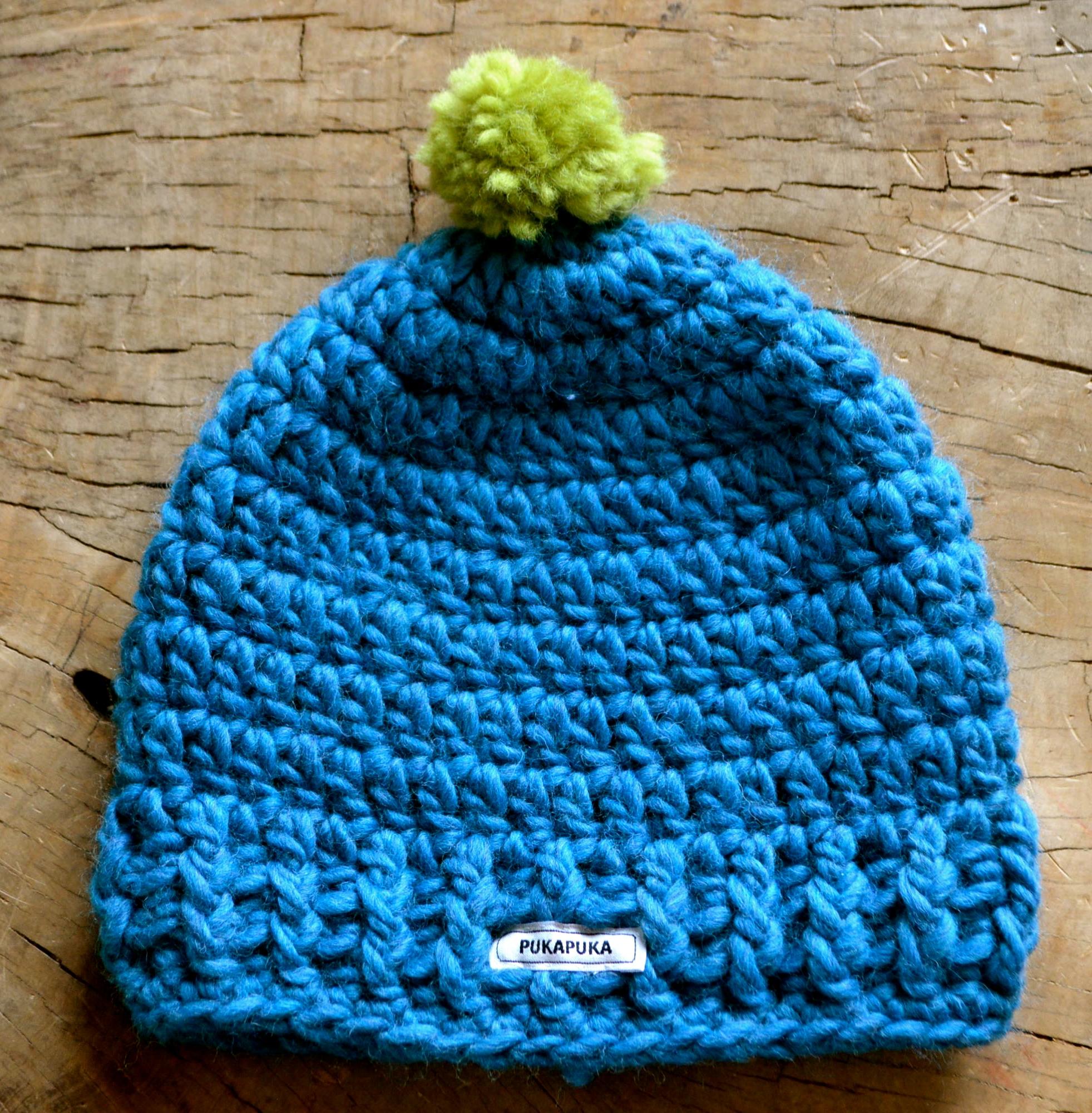 zielona wełniana czapka