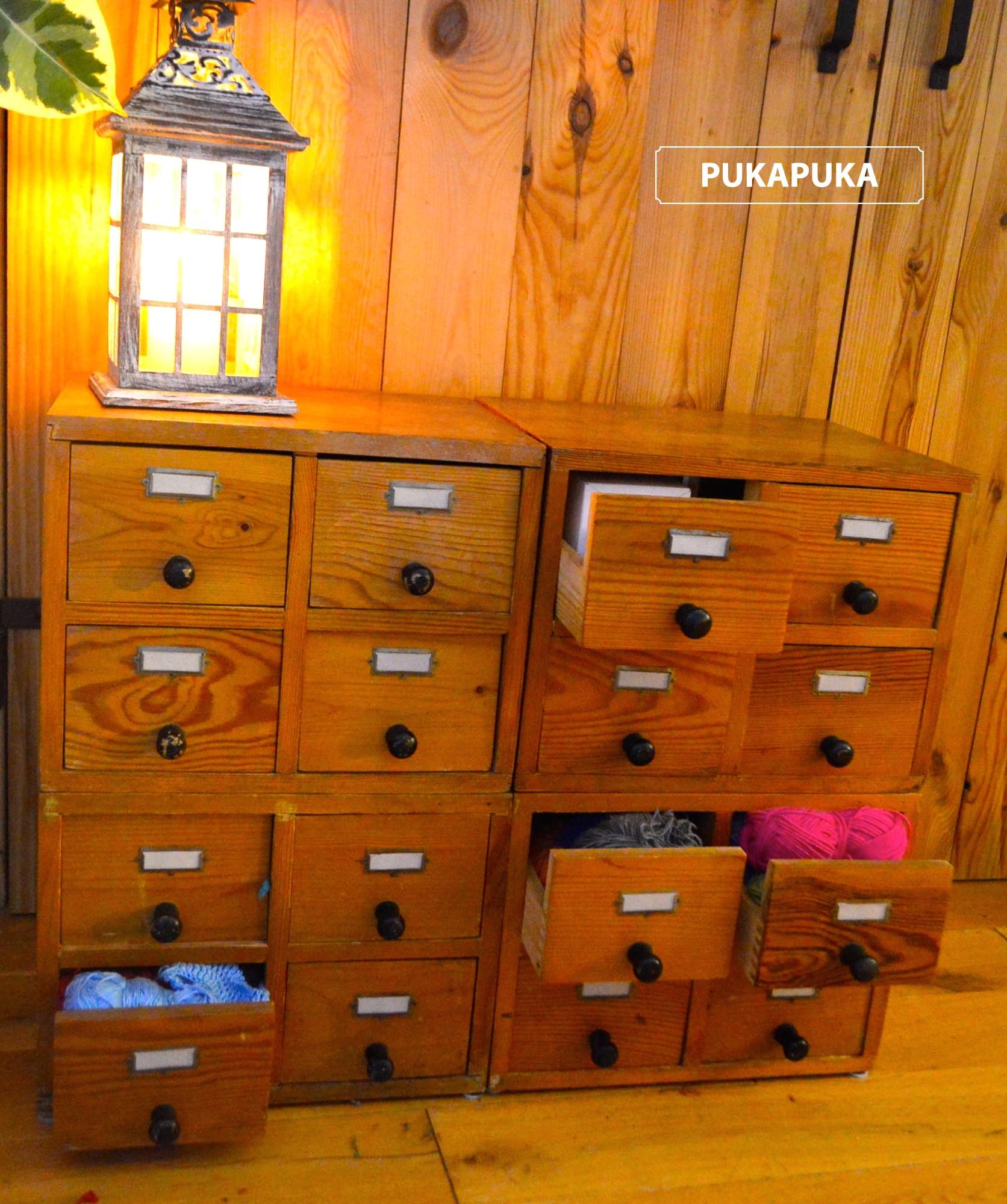 komoda z szufladek bibliotecznych