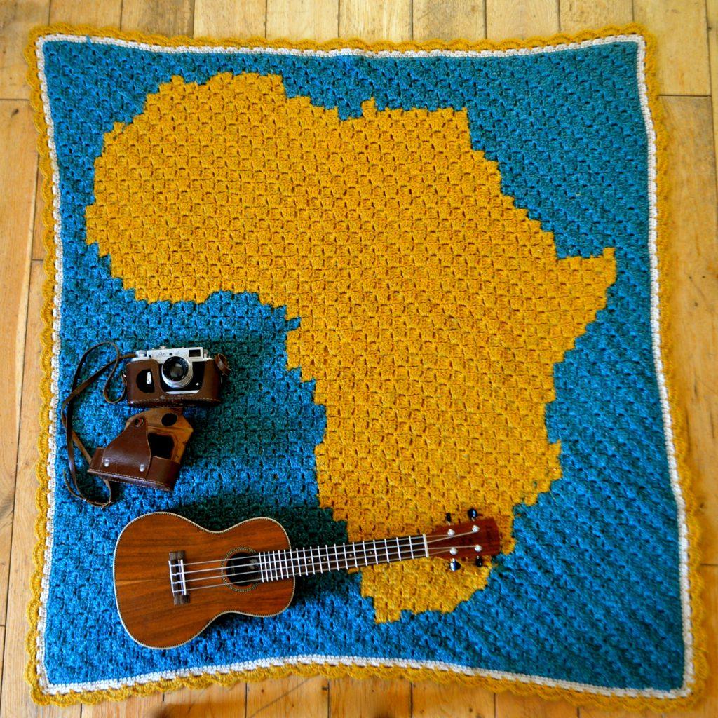 koc szydełkowy Afryka